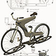 Byke - concept bike with hydraulic drive and frame in plastic
